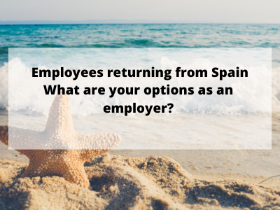 Employees returning from Spain